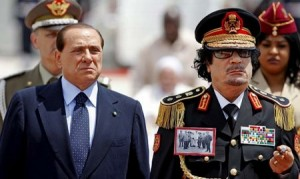 Gaddafi and Berlusconi