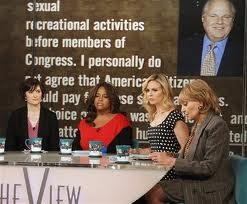 Barbara Walters and Sandra Fluke