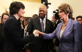 Nancy Pelosi and Sandra Fluke